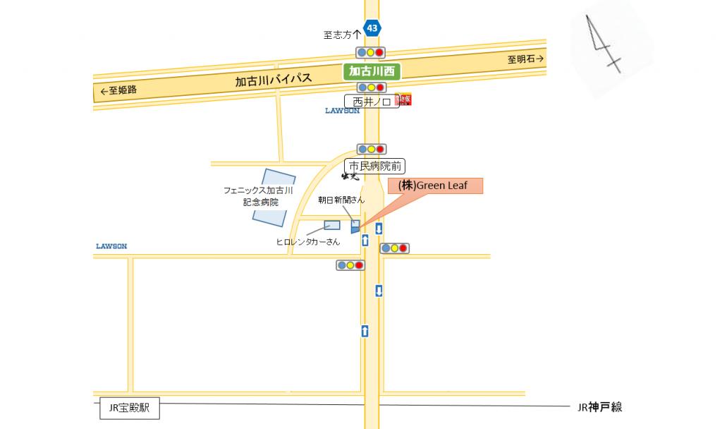 株式会社 Green Leaf の周辺地図