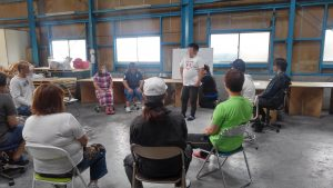 避難訓練の会議風景